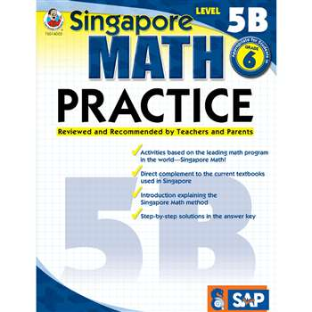 Math Practice Level 5B Gr 6 By Carson Dellosa