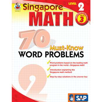 70 Must Know Word Problems Level 2 Gr 3 By Carson Dellosa