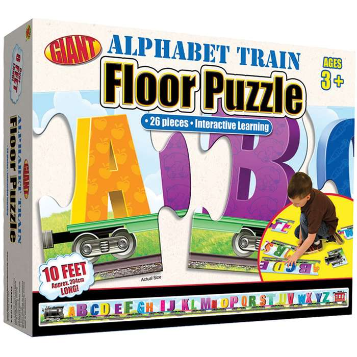 Alphabet Train Puzzle Ages 3-6 By Carson Dellosa