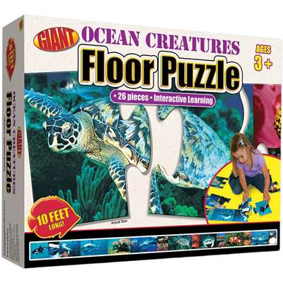 Ocean Creatures Puzzle Ages 3-6 By Carson Dellosa