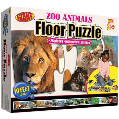 Zoo Animals Puzzle Ages 3-6 By Carson Dellosa