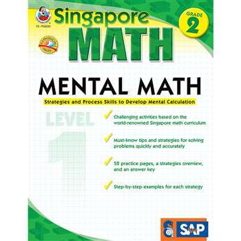Mental Math Level 1 Gr 2 By Carson Dellosa