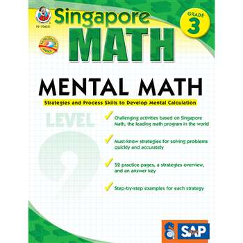 Mental Math Level 2 Gr 3 By Carson Dellosa