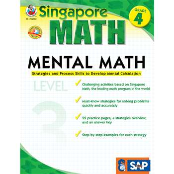Mental Math Level 3 Gr 4 By Carson Dellosa