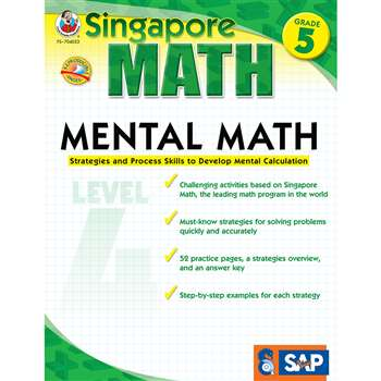 Mental Math Level 4 Gr 5 By Carson Dellosa