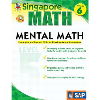 Mental Math Level 5 Gr 6 By Carson Dellosa
