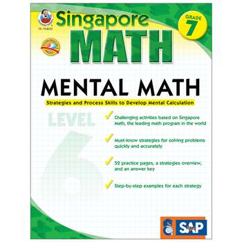 Mental Math Level 6 Gr 7 By Carson Dellosa