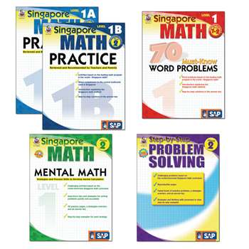 Singapore Math Bundle Gr 1 2 By Carson Dellosa