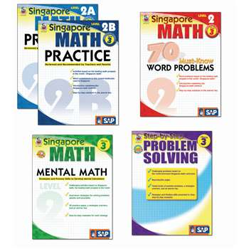 Singapore Math Bundle Gr 3 By Carson Dellosa