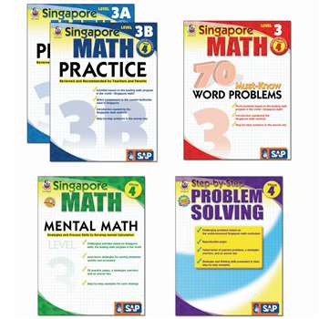 Singapore Math Bundle Gr 4 By Carson Dellosa