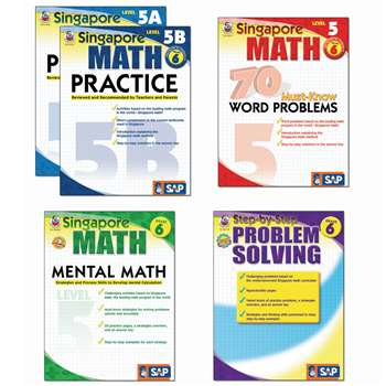 Singapore Math Bundle Gr 6 By Carson Dellosa