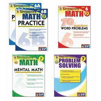 Singapore Math Bundle Gr 7 By Carson Dellosa