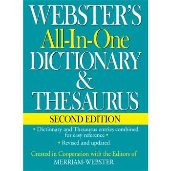 Websters All In One Dictionary & Thesaurus Second Edition By Federal Street Press