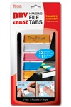 Filertek Dry Erase Tabs 12Ct Assort By The Pencil Grip