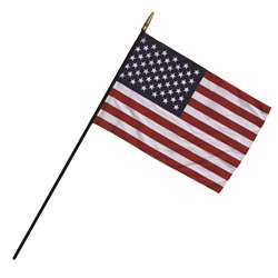 Heritage Us Classroom Flag 12 X 18 Flag 3/8 X 30 Staff By Independence Flag