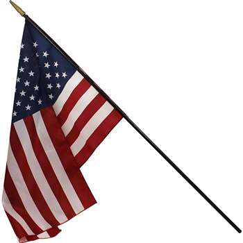 Heritage Us Classroom Flag 16 X 24 Flag 3/8 X 36 Staff By Independence Flag