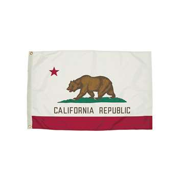 3X5 Nylon California Flag Heading & Grommets, FZ-2042051