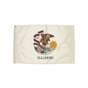 3X5 Nylon Illinois Flag Heading & Grommets, FZ-2122051