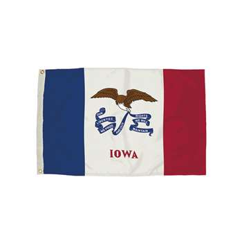 3X5 Nylon Iowa Flag Heading & Grommets, FZ-2142051