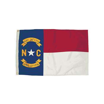 3X5 Nylon North Carolina Flag Heading & Grommets, FZ-2322051
