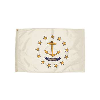 3X5 Nylon Rhode Island Flag Heading And Grommets, FZ-2382051