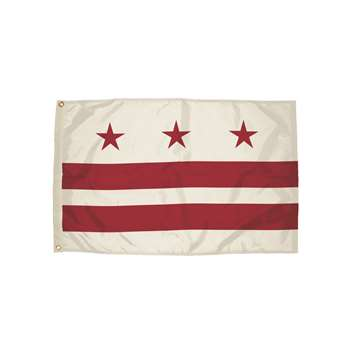 3X5 Nylon District Of Columbia Flag Heading & Grom, FZ-2612051