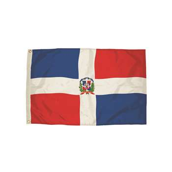 3X5 Nylon Dominican Republic Flag Heading & Gromme, FZ-3552051