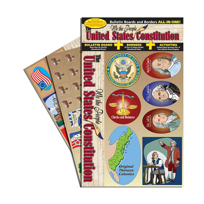 Us Constitution All-In-One Bulletin Board Set In Board Set By Gallopade
