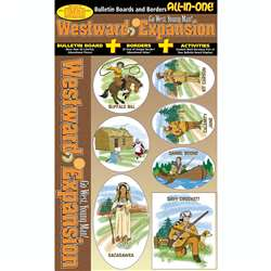 Westward Expansion All-In-One Bulletin Board Set By Gallopade