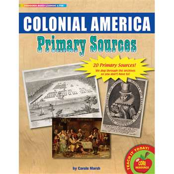 Primary Sources Colonial America, GALPSPCOL