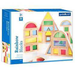 Rainbow Blocks 30 Asst Shapes By Guidecraft Usa