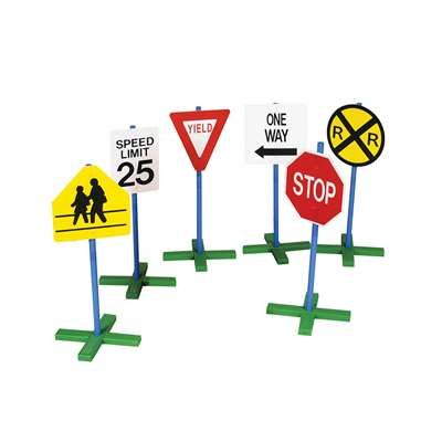 Drivetime Sign 6/Pk 30 Tall Pole By Guidecraft Usa