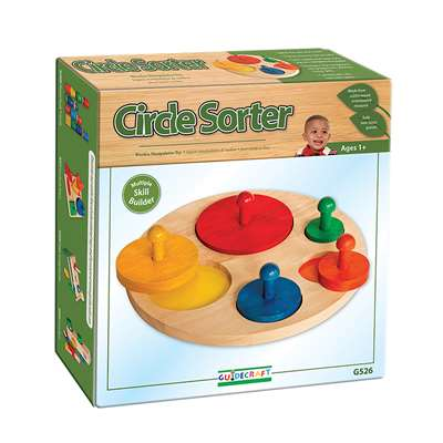 Circle Sorter Age 1 & Up By Guidecraft Usa