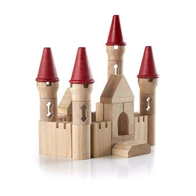 Table Top Building Blocks Castle B Lock Set By Guidecraft Usa