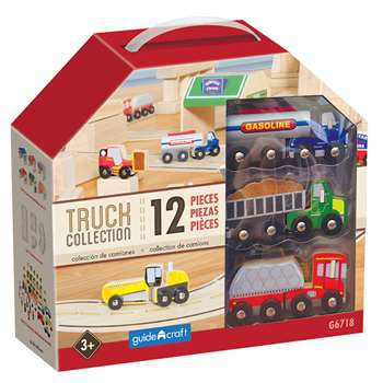 Wooden Truck Collection Set Of 12, GD-6718