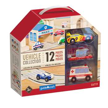 Wooden Vehicle Collection Set Of 12, GD-6719