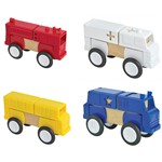 Block Mates Community Vehicles Set Of 4 By Guidecraft Usa
