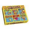 Geopuzzle Set Of 6 Geopuzzles Plus 6 Mini Posters, GEO137