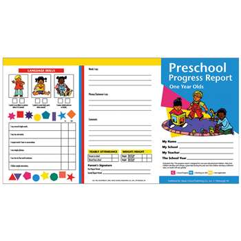 Preschool Progress Reports 10Pk For 1 Year Olds By Hayes School Publishing