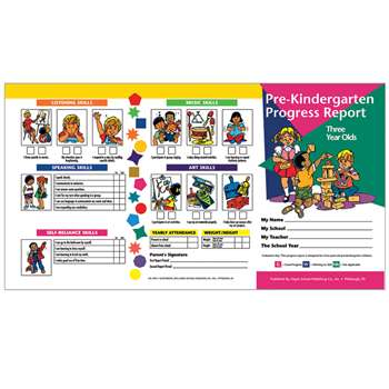 Pre Kindergarten Progress Report 10 Pk For 3 Year Olds By Hayes School Publishing