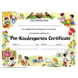 Certificate Pre-K Set/30 8.5 X 11 By Hayes School Publishing