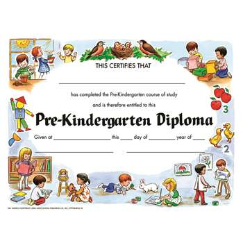 Pre-Kindergarten Diploma 30/Pk By Hayes School Publishing