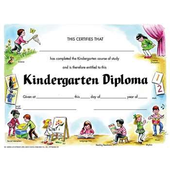 Kindegarten Diploma 30Pk Certificate By Hayes School Publishing