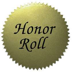 Stickers Gold Honor Roll 50/Pk 2 Diameter By Hayes School Publishing