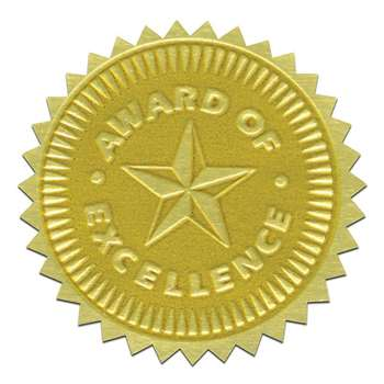 Gold Foil Embossed Seals Award Of Excellence, H-VA373