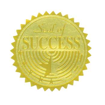 Gold Foil Embossed Seals Seal Of Success, H-VA376