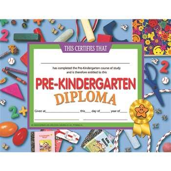 Pre-Kindergarten Diploma By Hayes School Publishing