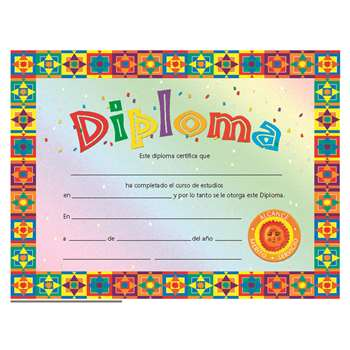Certificates Diploma Spanish 30/Set By Hayes School Publishing