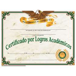 Certificate Of Achievement 30/Set Spanish By Hayes School Publishing