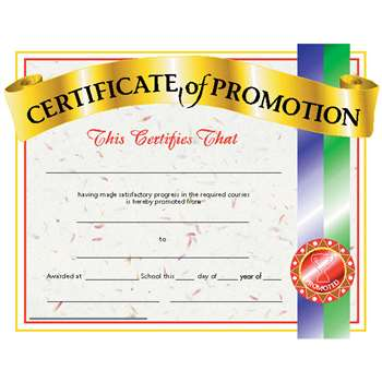 Certificates Of Promotion 30/Pk 8.5 X 11 By Hayes School Publishing